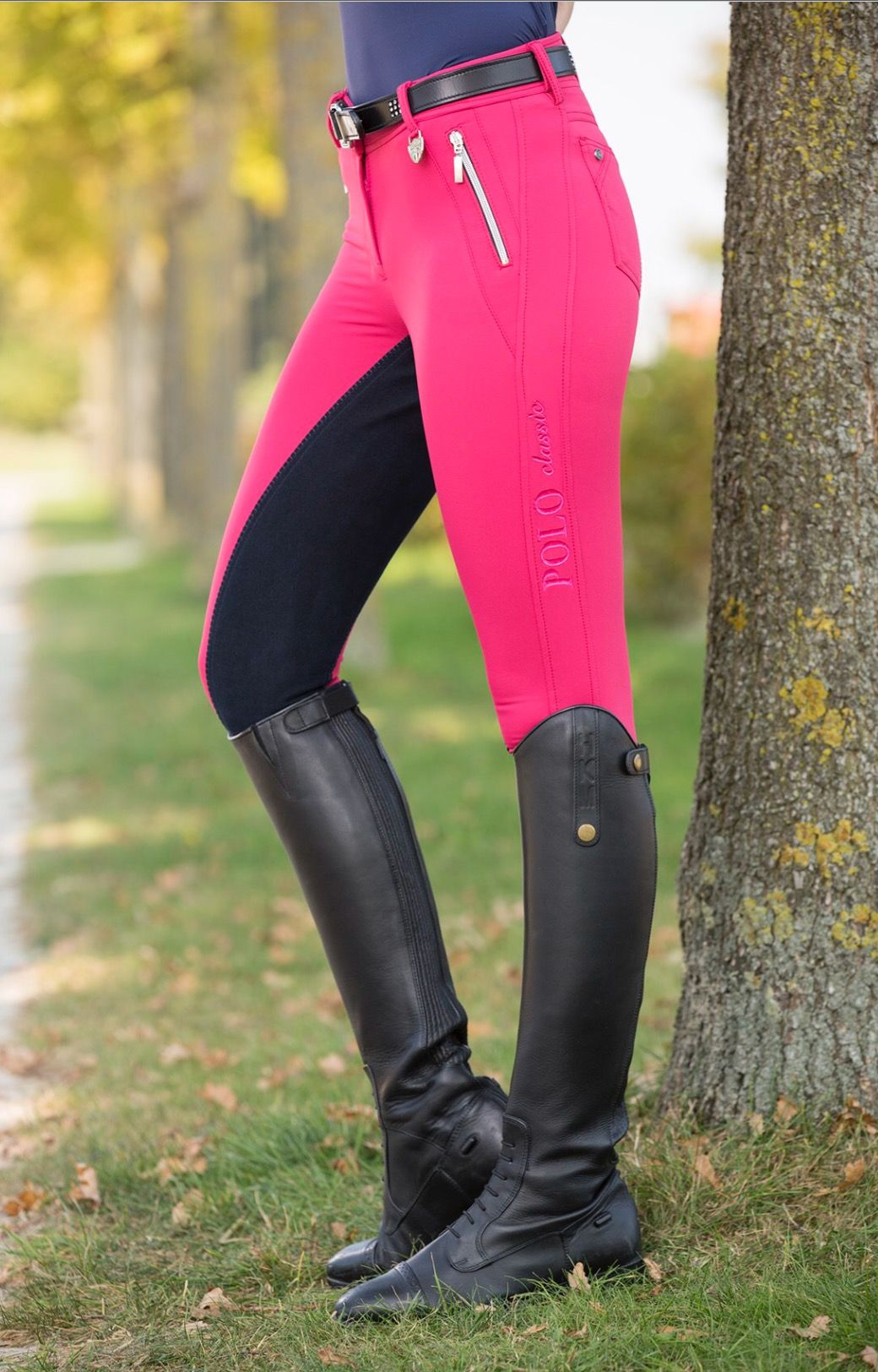 Hkm Polo Collection Pink Full Seat Breeches